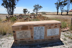 Ucolta, Mid North South Australia. Memorial plinth / World War One deceased soldiers / Roll of Honour WWI and WWII / Pioneers Closer Settlement tribute (contemplari1940) Tags: ucolta mid north railway town war memorial roll honour plinth pioneers closer settlement soldiers hall