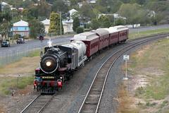 Yank On Tour Through Laidley (jamesmp) Tags: queenslandrail qrheritage ac16class steamlocomotive steam282 baldwinlocomotiveworks steamtour laidley queensland australia