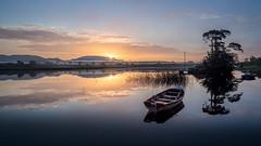 First Light (picturesbyJOE) Tags: europe reflections countysligo fog sunrise doorlypark ireland sligo dawn mist ie