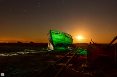 Dungeness Boat 2. (martbarras) Tags: seb aka rise decay desolate moon long exposure old boats lightpainting martbarras fisher panq phill dungeness nikon d7100 tokina 1116mm frosty cold protomachines raduim orange green
