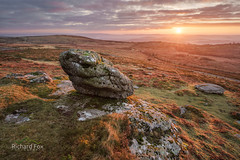 Blazing Saddle (http://www.richardfoxphotography.com) Tags: saddletor haytor dartmoor sunrise tor granite outdoors
