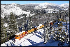 SPMW 4034 (golden_state_rails) Tags: up union pacific sp southern snow sierra nevada ca california emigrant gap spmw jorden spreader gp382 central bear river valley donner pass