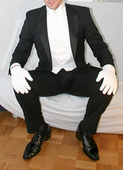 metails6_4291706890_o (shinydressshoes) Tags: tux tuxedo suit formal smoking anzug attire bowtie blacktie whitetie tails tailcoat frack lackschuhe shiny dress shoes patent groom prom sheer socks tuxguy suitguy wet
