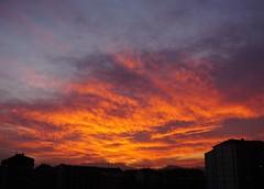 Fuoco in cielo #dacasa#desdecasa#byhome#cielo#sky#tramonto#sunset#atardecer#romantico#romantic#vivalavita#vivalavida#rosso#red#rojo#arancione#orange#aranjado#fuoco#fuego#fire
