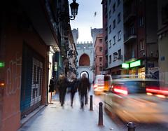 Torres de Quart (Olga NS) Tags: city ciudad street streetphotography torresdequart quart valencia spain españa ghost fantasma desenfoque movement movimiento
