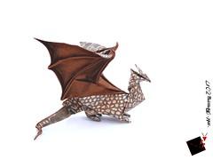 dragon (-sebl-) Tags: paper origami sebl square uncut dragon fly fold crocodile