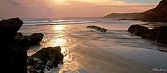 Outgoing tide, Tregantle, Cornwall, UK. (ronalddavey80) Tags: sunset beach cornwall coast headland eos70d canon sea waves ocean water colour