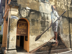 The Indian Boatman (Tanenhaus) Tags: malaysia penang georgetown indian boatman oar mural street art
