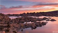 Watson Lake 3/4 (explored) (AdelheidS photography) Tags: adelheidsphotography adelheidsmitt adelheidspictures america arizona watsonlake granitedells dells prescott lake sunrise
