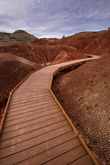John Day Fossil Beds (Mstraite) Tags: painted nature landscape boardwalk trail hike nationalpark national sky clay history fossil oregon