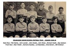 Melbourne Junior School - 1948-49 (qay73xse) Tags: bygones football derby derbyshire melbourne school 1948 1949