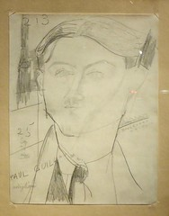 les guillaume (5) (canecrabe) Tags: crayon mine plomb paulguillaume collection amedeomodigliani portrait