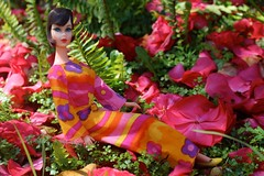 My new Hair Fair in Pajama Pow (DeanReen) Tags: morning pink orange sun plant flower green 1969 nature fashion yellow vintage garden mod shoes doll day purple legs bend outdoor body head vibrant barbie mint sunny lips 1966 flats pout 1967 squishy 1970 1960s 1968 colourful tnt clover jumpsuit 4044 furn 4042 4043 1806 hairfair twistnturn pajamapow hostesspyjamas