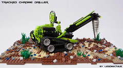 01_Trackd_Chrome_Driller (LegoMathijs) Tags: black green energy rocks desert lego crystal gates space tracks astronaut chrome planet scifi lime d04 miners driller tracked moc mathijs andromedas ores liftarm eurobricks foitsop legomathijs