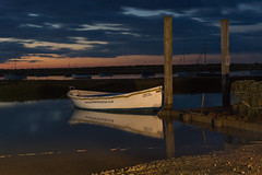 Brancaster Staithe, Norfolk, UK night shots (2) (Nick Bowman1) Tags: uk england boats unitedkingdom norfolk gb carheadlights brancasterstaithe sonya99 sonyzeissvariosonnar2470f28