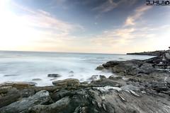 IMG_0933 (Joseph Hui (J_HUI)) Tags: ocean longexposure people cloud sun beach water bondi canon landscape sand rocks sydney 1740 6d tamarama jhui