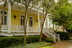yellow house and porch (doddsjzi) Tags: porch handrail railing charlestonsc yellowhouse baluster crepemyrtles