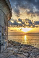 Amanecer Benicarló (Javier_Subias) Tags: sea sky sun beach valencia clouds sunrise landscape mar stones playa paisaje amanecer cielo nubes rocas piedras castellon benicarlo subias escozkor