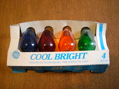 GE Cool Bright c7 (brown_dan72) Tags: christmas bulb cool bright transparent 1970s ge 1980s c7