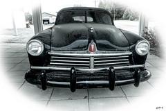 The Old Hudson (gabi-h) Tags: old windows ontario black dusty car vintage hudson blackcar princeedwardcounty blacksedan gabih windowswednesday