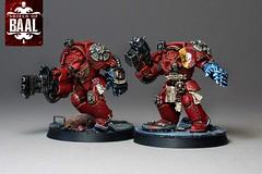 Brothers Bartelo & Aphrae (Duca Strige) Tags: infantry angel blood 40k warhammer terminator squad alphaeus deathstorm