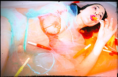 bath-sickle-pop (JasonLee) Tags: cold ice panties bath melting colorful nipple bright bra lips seethrough sucking popsicles nearnude bathist purplepurple