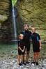 Majellando e i giovani amici alla Cascata di Cusano - Majella - Abruzzo - Italy