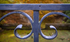Strike while the iron is hot (Peter Jaspers (busy at the moment)) Tags: park castle fence iron dof estate olympus panasonic curl fenced haarzuilens dehaar kasteel hff 2015 20mm17 happyfencefriday frompeterj