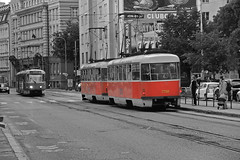 Tram at Bratislava (Ranjith Kizhakoodan) Tags: world travel white black beautiful river walking tour n tram landmark slovakia traveling tours bratislava danube mostsnp ranjith povstania trambratislava ranjithkizhakoodan