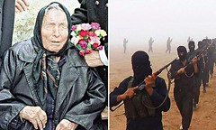 The chilling predictions of Baba Vanga: The blind mystic who predicted the rise of ISIS and other events (paulogd2002) Tags: man black horizontal fog pose religious army outdoors march photo video war day desert state propaganda flag military muslim islam iraq authority religion group young parade east human civil rights arabia terrorists terror violence syria conflict soldiers guns uniforms fighters middle isis genocide mideast islamic rebels insurgent levant insurgents alqaeda sunni isil abuses mujahideen caliphate jamaat altawhid daash daesh waljihad