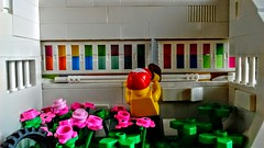 LEGO Just Sawing some Stuff (wesleyobryan) Tags: city flowers roses lego stop smell future vignette wasteland fallout apocalego