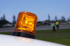 Airfield Survey (coghilla) Tags: yellow airplane airport aviation aeroplane survey beacon orrange airfield aerodrome workvehicle ool flightstrip goldcoastairport ybcg menwithhandtools