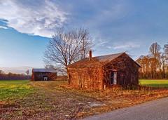 Abandoned Home and Old Barn (r.w.dawson) Tags: usa house home barn virginia farm va abandonedhouse 2015 carolinecounty