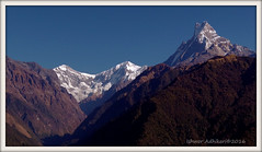 View from Tadapani (way to Annapurna Base Camp) (IshworAD) Tags: mountain himal trekking outdoor tadapani hiking advanture travelling photography machhapuchre annapurnabasecamp photo border landscape