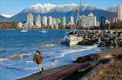 Sunshine, Shipwrecks & Snow Capped Mountains (Clayton Perry Photoworks) Tags: vancouver bc canada fall autumn explorebc explorecanada outdoor snow mountains northshore skyline boat winter shipwreck haddenpark
