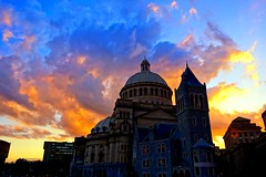 The Christian Science Mother Church (brooksbos) Tags: sunset boston christianscience brooks brooksbos clouds architecture sony rx100