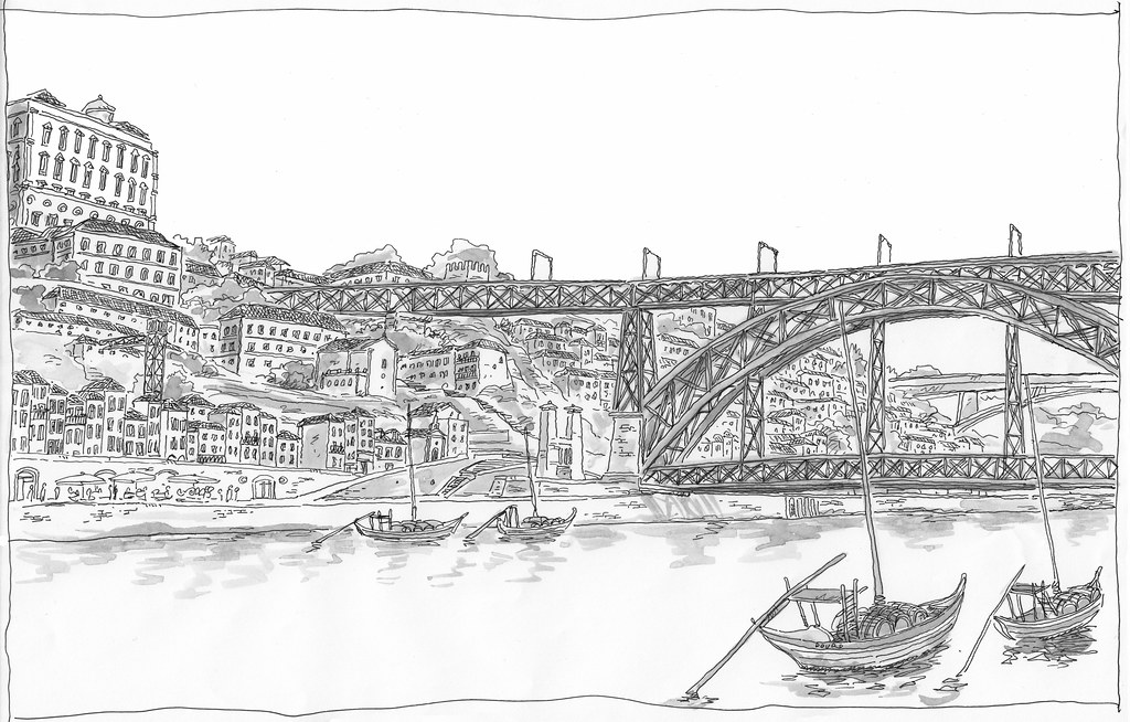 The world 39 s best photos of sketch and urbansketcher - Dessin portugal ...