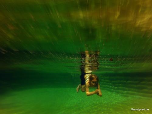 Gravelpond natural swimming pool / zwemvijver