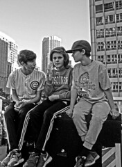 3 Stooges (tacosnachosburritos) Tags: chicago cubs crowd parade man guy fan woman girl lady autumn baseball north michigan avenue rally chick kids championship world series champs 2016 cheers applauds anticipation joy happy street photography thestreets glory magnificentmile players bus trolley humanity humanrace people