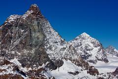 Cervino - Matterhorn (4.478 m) (Stefano★) Tags: cervino matterhorn montagna mountain escursione trekking hiking alpinismo alpinism mountaineeing breithorn roccia rock natura nature ghiaccio ice neve snow silenzio silence