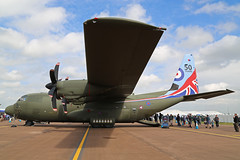ZH883 Lockheed C-130J Hercules C5 Royal Air Force 50 Years special Colours RIAT 2016 RAF Fairford 08th July 2016 (michael_hibbins) Tags: