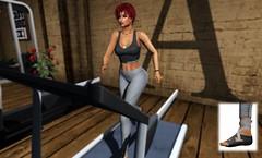 At the Gym with Addams (Aida diLeto Lundquist) Tags: secondlife addams gym leggings yogashoes