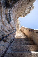Aragon Stairs (Katka S.) Tags: france corse corsica island ile de beaute aragon king stair stairs bonifacio city up
