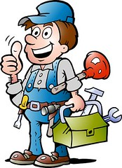 plumber (trustedtradieaus) Tags: plumber art big blue builder business cartoon caucasian character mascot clip color concept construction contractor drawing hand handyman happy hat holding illustration industry isolated male man mechanic occupation overalls person plumbing professional repair repairman service smile standing symbol tool tradesman thumbup thumb up work worker wrench painter electrician