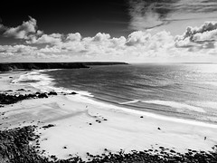wales-3-160916 (Snowpetrel Photography) Tags: monochrome seascapes blackandwhite wales coasts marloes space sky pembrokeshire olympusem1 landscapes sea olympusm1240mmf28 coastlines