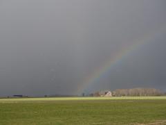 (Jeroen Hillenga) Tags: jukwerd regenboog rainbow groningen netherlands bui