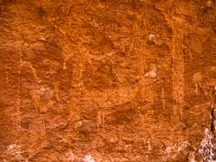 Connected Ghosts (xjblue) Tags: rockart pictograph polychrome rock art grandcanyon esplanade style anthropomorph zoomorph sheep connected hand northernarizona