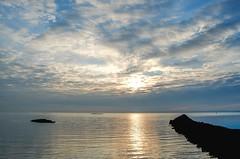 Meditation on the Sound (Lojones13) Tags: sky sea water sunrise clouds jetty morning outside longislandsound d7000 newyork rye