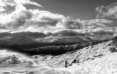 Knoydart (midge 1971) Tags: sony alpha scotland knoydart mountains highlands snow clouds sky mono
