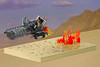 Barbert (Carson Hart) Tags: lego speeder bike star wars fire lights gadget techinique sci fi space classic carson hart photography photo edit editing track vignette scene base desert bubbles tron npu moc